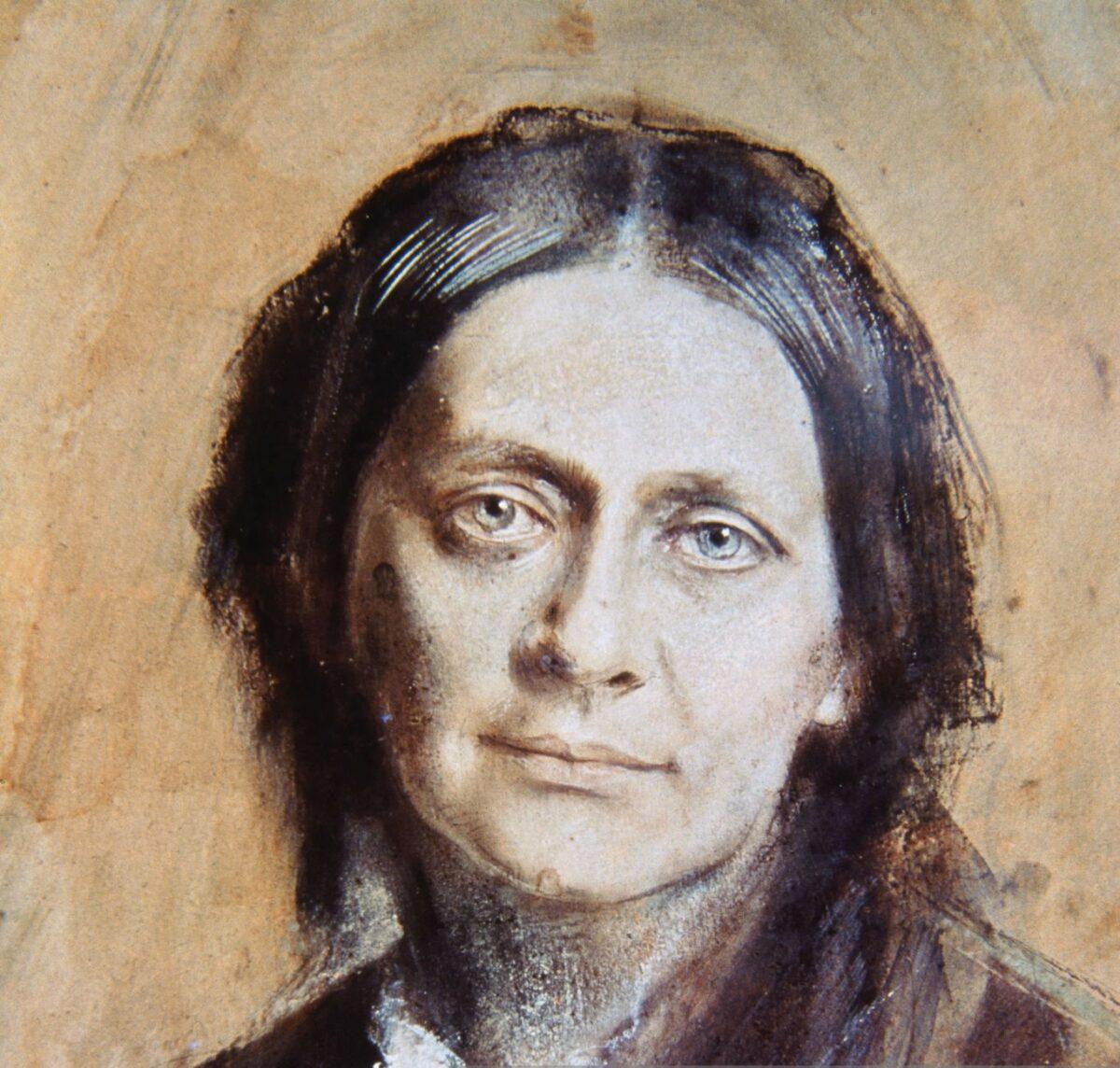 Clara Sch 1878 tekening Fr von Lenbach