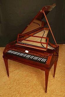 'Walter' fortepiano, gebouwd door Paul McNulty, naar voorbeeld van Walter & Son fortepiano 1805